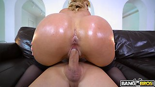 Hot ass blonde mature Jazmyn gets her pussy and mouth dicked
