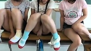 Summer Schoolgirls With Sunburn Trace