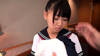 Tiny Japan schoolgirl pussy toy stimulated and fingerfucked