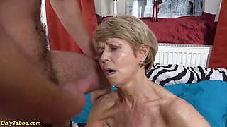 Kinky 75 years old granny loves toyboy