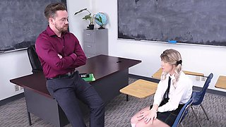 TeamSkeet - Hot School Girl Dicked Down By Teacher