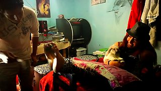 Dazzling Japanese babe gets her lovely little feet spanked