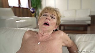 Kinky student fucks old nanny Malya and cums on her face