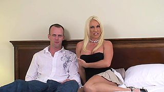 Riding a huge cock makes this blonde chick reach an orgasm