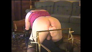 plump transvestite and her huge toy