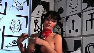 Domina carmen rivera ties up her bondman actually hard