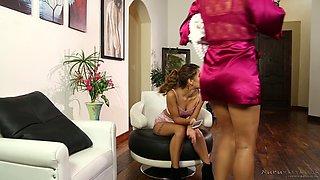 Uma and Savana are once again having an oily lesbian adventure