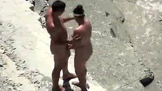 Voyeur beach sex movie scene dilettante pair secretly filmed on spy web camera