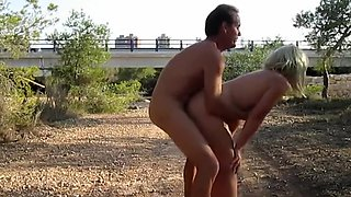 Standing sex near the highway