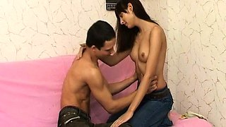Penis rams lovely young brunette beauty 's cave
