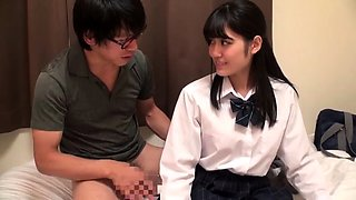 Naughty Japanese schoolgirls feeding their hunger for cock