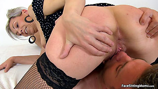 Mature Beate Face Sitting on her Slave