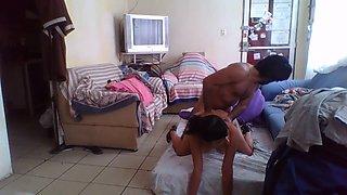 super cogida en casa en la webcam