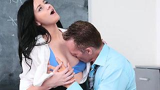 Pervy teacher penetrates horny student