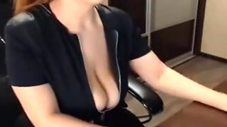 Big breasted chick!