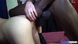 Morgane bride is getting fucked by a black