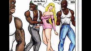 cartoon sex big black cock