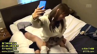Japanese Amateur Student Get Cum On Her Asian