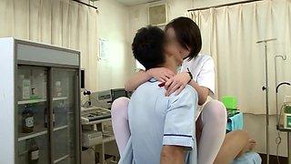 Best Japanese model in Hottest Nurse, Stockings JAV clip