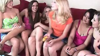 A group of 8 amateurs playing crazy sex games and fucking