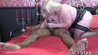 British GILF Lacey Starr rides and sucks a BBC monster