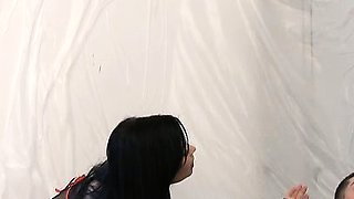 Two young 18yo dominatrixes take a guy home to punish and