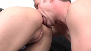 Amber ass licked then smashed hardcore doggystyle