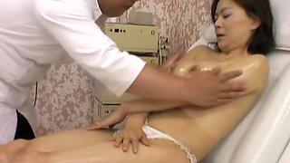 Naughty asian slut fucked by massagist in sexy voyeur movie