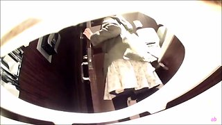 Kinky voyeur spies on amateur Japanese babes in the toilet