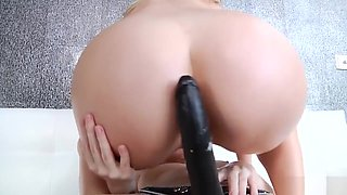 Giselle Palmer and Cadence Lux strap on anal