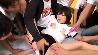 Delightful Japanese schoolgirl gets used by a gang of boys