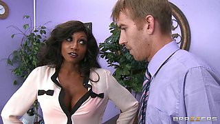 Foxy Black Teacher Fucks In The School