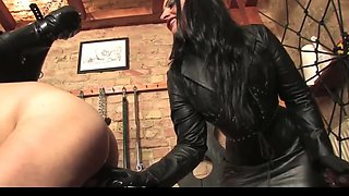 Mistress bangs her slave