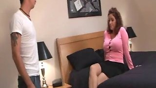 Blackmailed into sex with her son